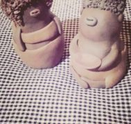 人気の陶芸家と鬼の置物つくり