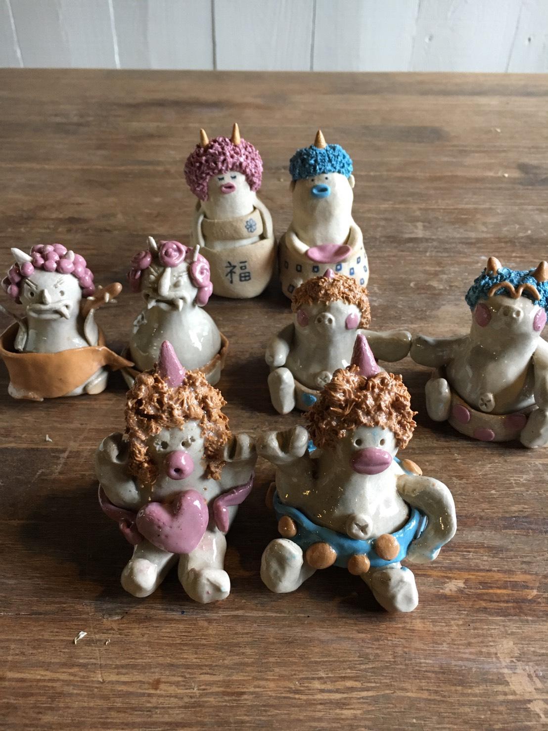 人気の陶芸家と作る陶人形教室