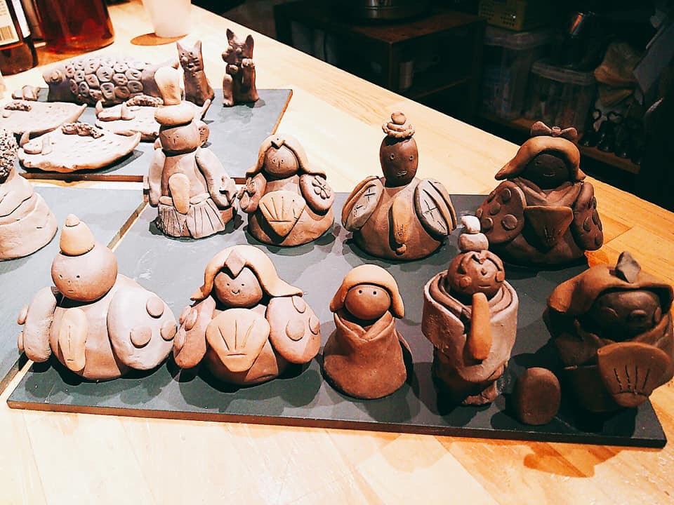 人気の陶芸家と作る陶人形教室2月8日開催